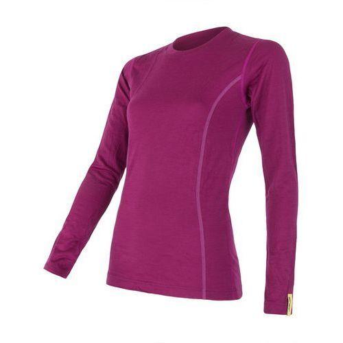 Bielizna termoaktywna Merino Wool Active Women's T-shirt Long Sleeves Purpurowa M, kolor fioletowy