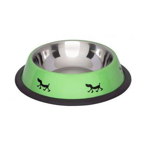 Lolo Pets Miska na gumie w kolorze ZIELONYM 0.45l nr kat.LO-97241