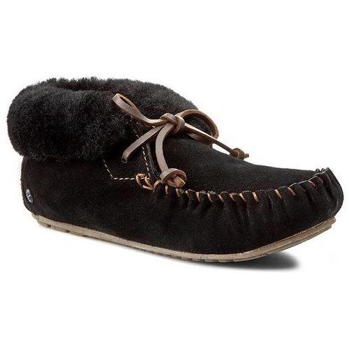 Kapcie EMU AUSTRALIA - Moonah W10926 Black, w 6 rozmiarach