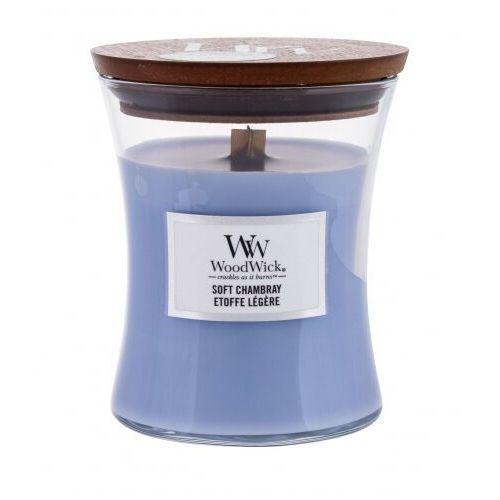 - soft chambray - świeca zapachowa - jaśminowa tkanina (czas palenia: do 100 godzin) marki Woodwick
