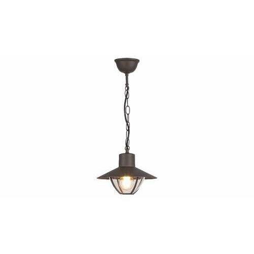 Rabalux almada 7885 lampa wisząca ogrodowa zewnętrzna ip44 1x10w e27 brązowa/przeźroczysta (5998250378855)