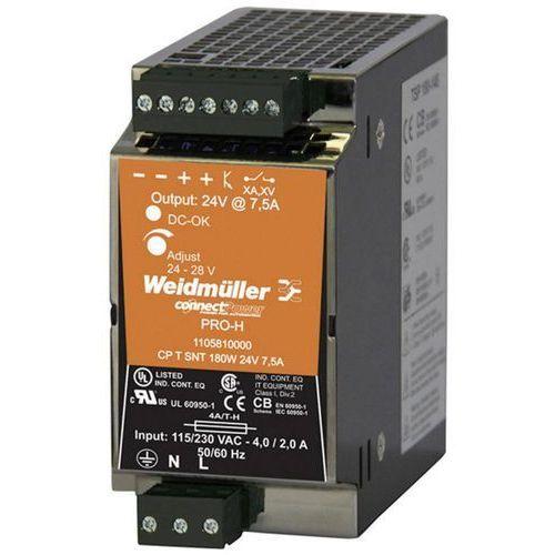 Zasilacz na szynę DIN Weidmüller CP T SNT 180W 24V 7,5A 24 V/DC 7.5 A 180 W 1 x (4032248881383)