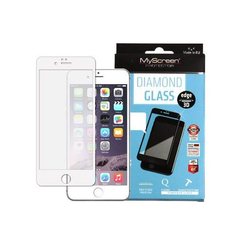Myscreen protector Apple iphone 6s plus - szkło hartowane fullscreen glass - białe