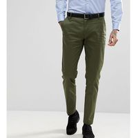 skinny suit trousers in cotton sateen - green marki Heart & dagger