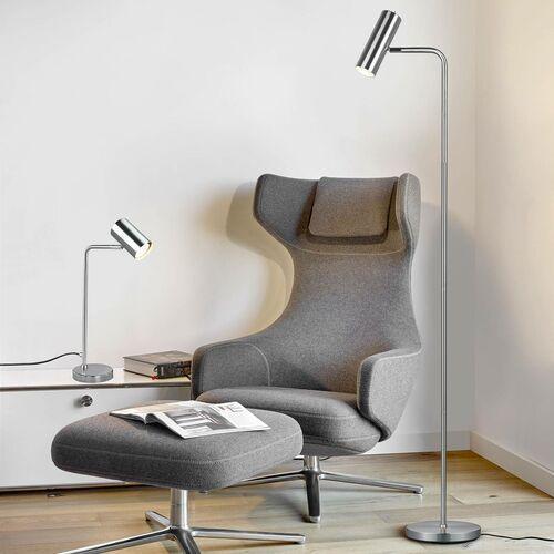 Trio Marley 512400107 lampa stołowa lampka 1x35W GU10 nikiel (4017807488746)