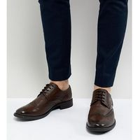 Frank Wright Wide Fit Brogues In Brown Leather - Brown