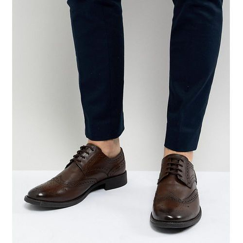 wide fit brogues in brown leather - brown marki Frank wright