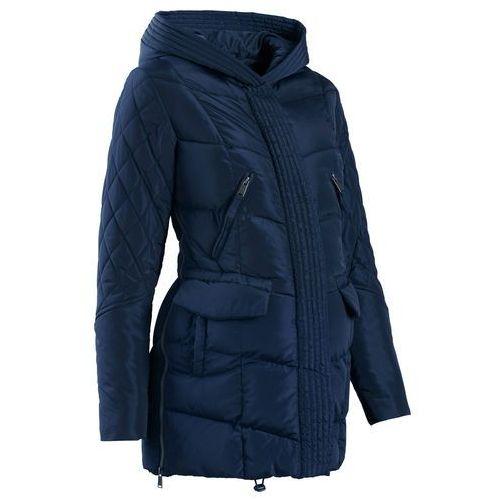 Bonprix Płaszcz ciążowy pikowany z regulacją obwodu  ciemnoniebieski