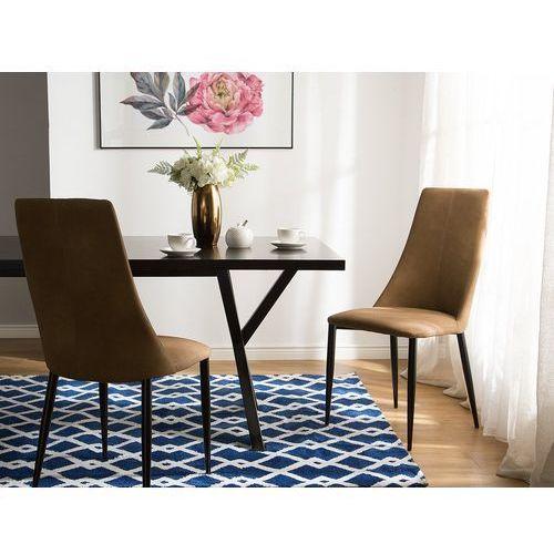 Zestaw do jadalni 2 krzesła beżowe clayton marki Beliani