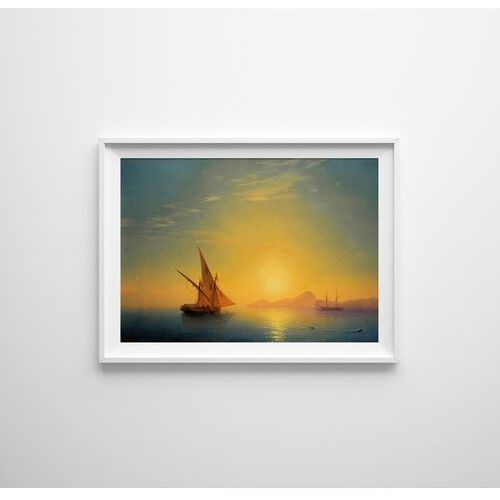 Plakat w stylu vintage plakat w stylu vintage zachód słońca nad ischią ivan aivazovsky marki Vintageposteria.pl