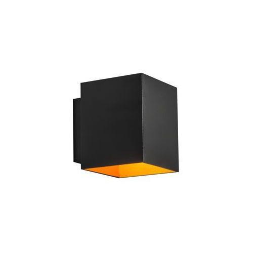 Zumaline kinkiet/lampa ścienna sola wl square black-gold czarny 91063 (2011005668537)