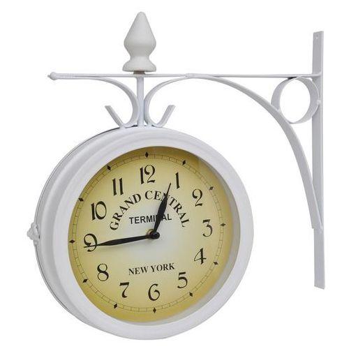 vidaXL Zegar ścienny w stylu retro (Biały) (8718475862802)