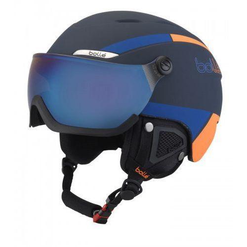 Kask b-yond visor navy & orange with amber blue visor marki Bolle