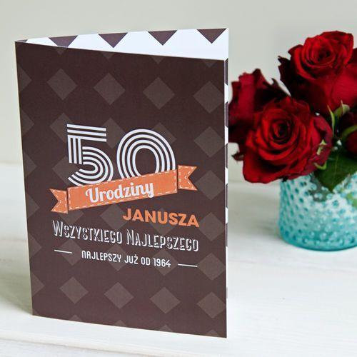 Mygiftdna 50 urodziny wszystkiego najlepszego - kartka z życzeniami - kartka z życzeniami
