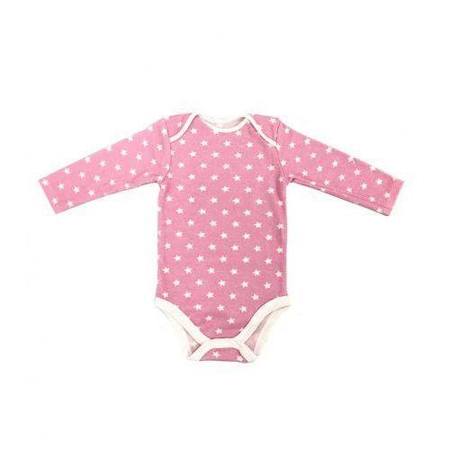 Dziecięce body długi rękaw różowe gwiazdki marki Dolce sonno
