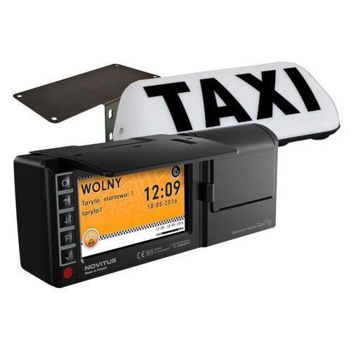 Novitus Taksometr fiskalny taxi e + uchwyt samochodowy taxi e + lampa taxi + montaż za 1 pln