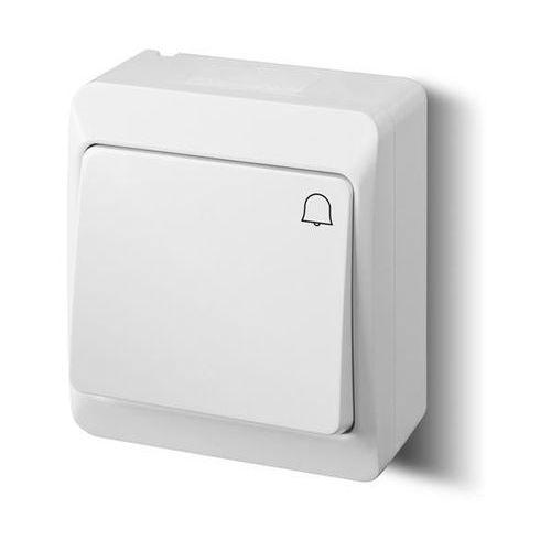 Elektro-plast nasielsk Łącznik zwierny dzwonek natynkowy ip44 biały 0337-02 hermes elektro-plast