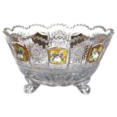 Caesar crystal 19316 półmisek 500k złoto ii, szkło kryształowe bezbarwne, średnica 155 mm