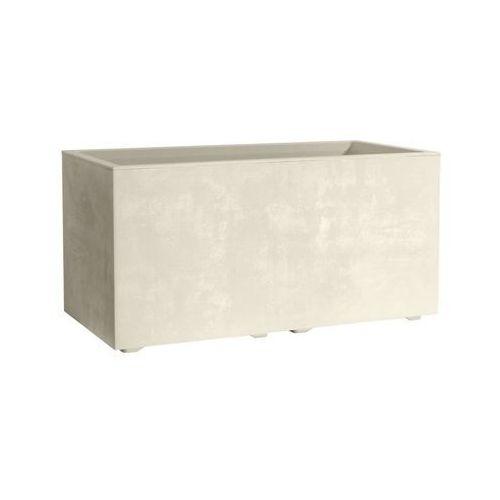 Deroma Skrzynka balkonowa 59 x 25 cm plastikowa perłowa milenium
