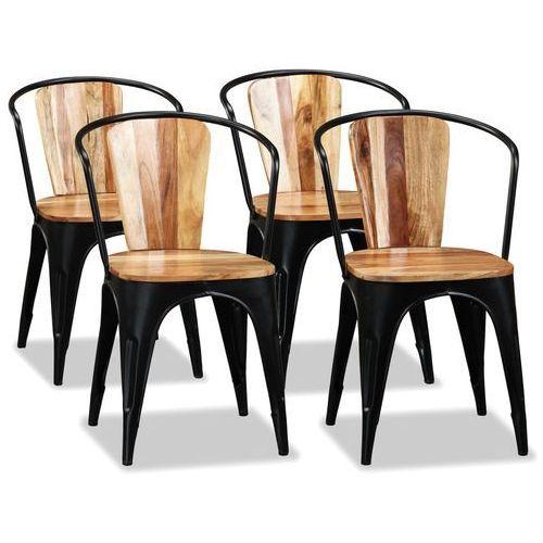 Vidaxl krzesła do jadalni, 4 szt., lite drewno akacjowe, styl tolix (8718475587149)