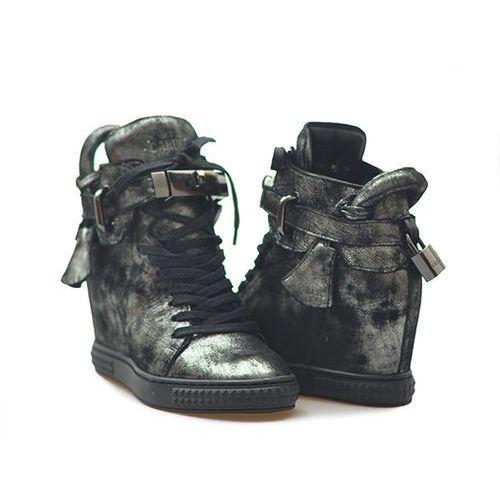 Sneakersy Carinii B3767-I23-000-PSK-B88 Czarny/Stalowy lico