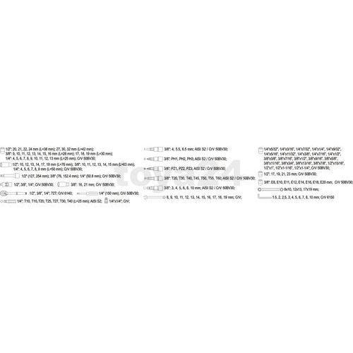 Zestaw narzędziowy yt-3881 xxl (150 elementów) + darmowy transport! marki Yato