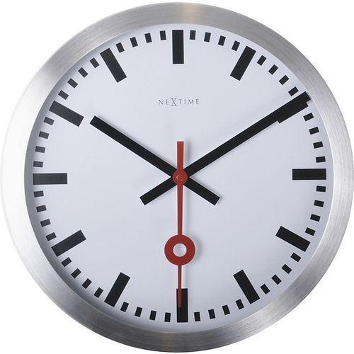 Zegar ścienny station mały indeks marki Nextime