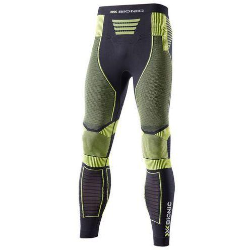 X-bionic effektor power spodnie do biegania mężczyźni żółty/czarny m 2018 legginsy do biegania (8050689202785)