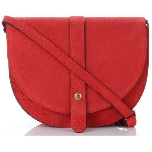 992d013b2dae1 Włoskie torebki skórzane listonoszki marki wykonane w całości z wysokiej  jakości zamszu naturalnego czerwone (kolory