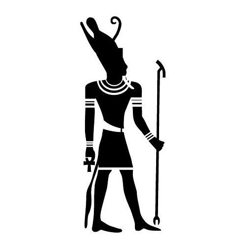 Szabloneria Szablon malarski z tworzywa, wielorazowy, wzór etniczny 25 - egipski bóg atum