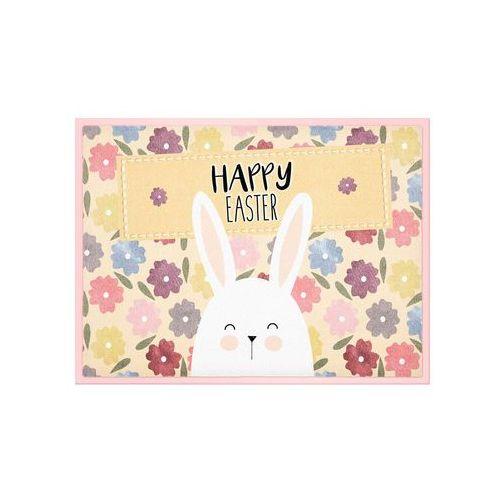 Bonprix Wycieraczka z napisem happy easter dymny różowy