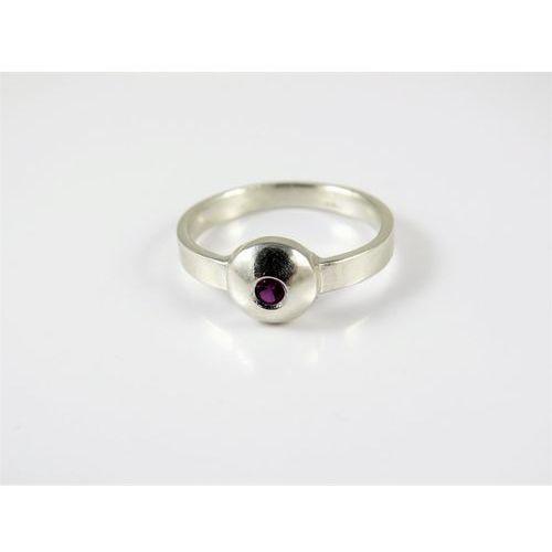 Srebrny pierścionek 925 RÓŻOWA CYRKONIA r. 18