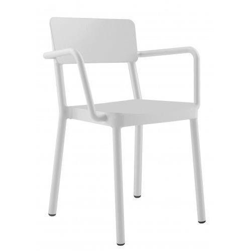 Krzesło lisboa z podłokietnikami białe marki Resol