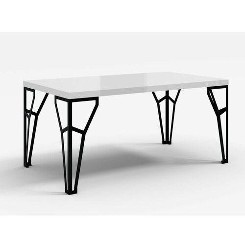 Stół z metalowymi nogami atlas biały połysk marki Decoartimo