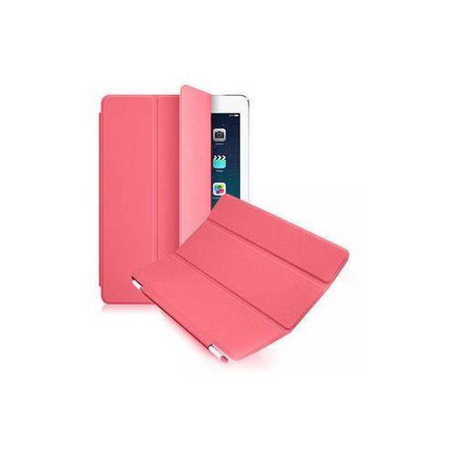 6w1- Przezroczyste Back Cover + Smart Cover + 2x folia + rysik + ściereczka do iPad 2 3 4 - Różowy