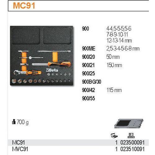 Zestaw narzędzi, 25 elementów, w miękkim wkładzie profilowanym, model 2350/mc91 marki Beta
