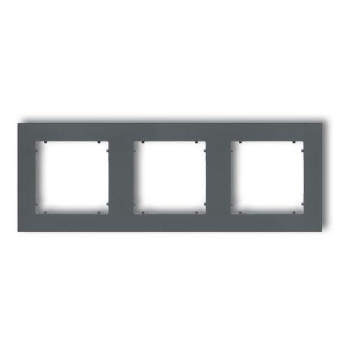 Ramka potrójna Karlik Mini 28MR-3 grafitowy mat, 28MR-3