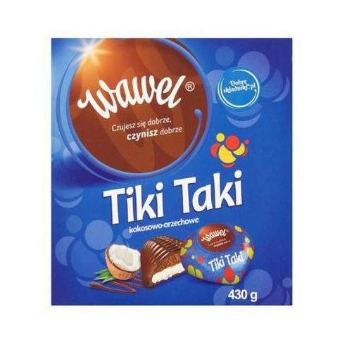 WAWEL 430g Tiki Taki kokosowo-orzechowe Czekoladki z nadzieniem