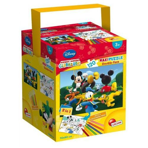 Lisciani Puzzle w walizce maxi dwustronne klub przyjaciół myszki miki 120 (8008324053551)