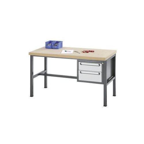 Stół warsztatowy z płytą mdf, 2 szuflady, wys. 1x150, 1x180 mm, wys. x szer. x g marki Rau
