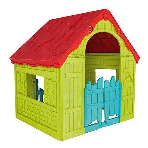 Zabawka Domek dla dzieci KETER Foldable Playhouse Czerwono-Żółto-Niebieski + DARMOWY TRANSPORT!