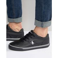 Polo Ralph Lauren Hanford Leather Trainers - Black