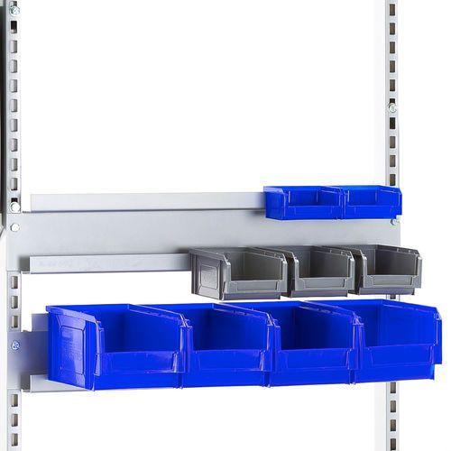 Podwójna szyna na pojemniki do stołu MOTION, 670 mm, 274121
