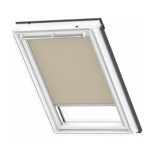 Roleta na okno dachowe VELUX dekoracyjna Premium RML FK04 66x98 4155S ciemny beż elektryczna