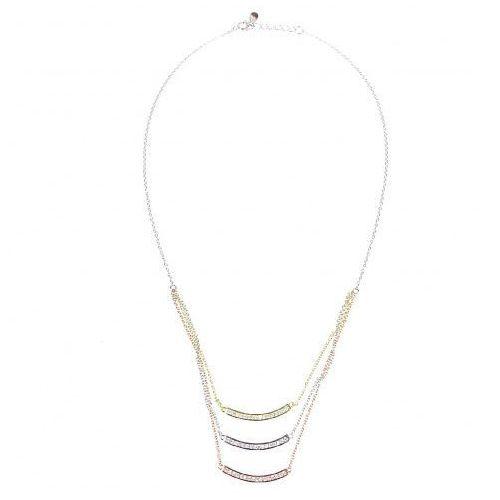 Saxo Biżuteria damska ze srebra naszyjnik srebrny pozłacany sł.056.01