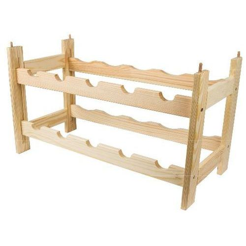 Regał drewniany BIOWIN Modułowy na 10 butelek 520011 (5908277706425)