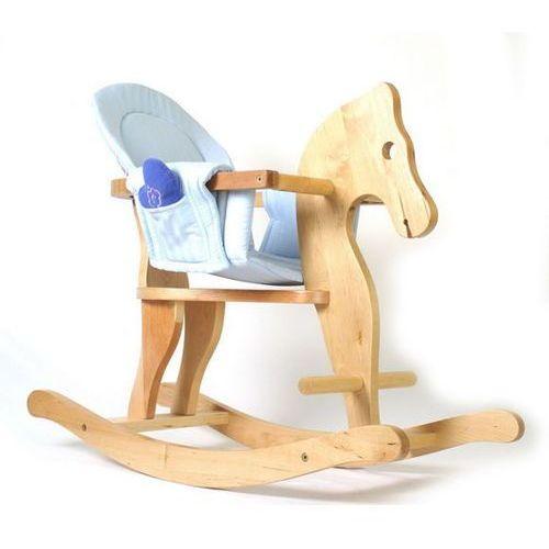 Konik na biegunach dla dzieci z miękkim siedziskiem