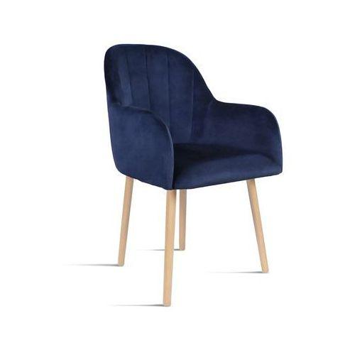 Krzesło BESSO granatowy/ noga buk/ SO263, kolor niebieski