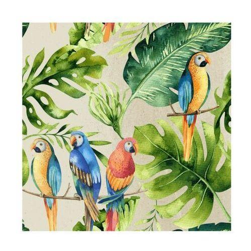 Panel kuchenny szklany Parrots beige 60 x 60 cm Alfa-Cer (5902027035841)