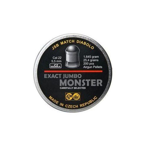 Śrut 5,52 mm exact jumbo monster 200 szt. + darmowy zwrot (exa5,52.jum.mons) marki Jsb